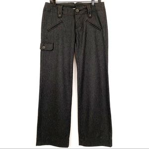 JAMES PERSE Charcoal Wool Trousers, Sz 27   NWOT